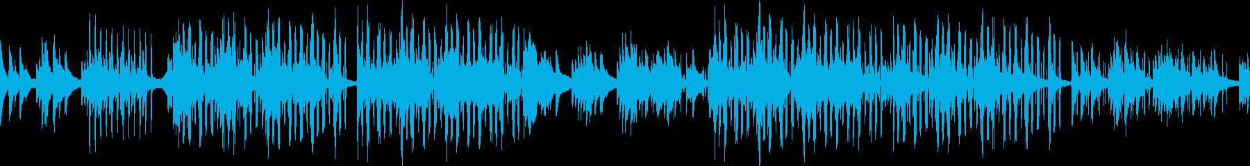お洒落で落ち着いたピアノサウンドの再生済みの波形