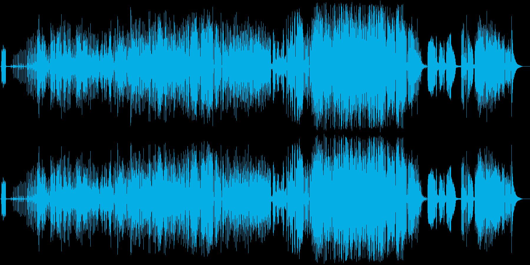 フライパンや鍋をリズム対としたポップスの再生済みの波形