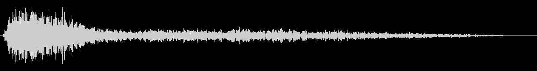 チュアーンという響く金属音の未再生の波形