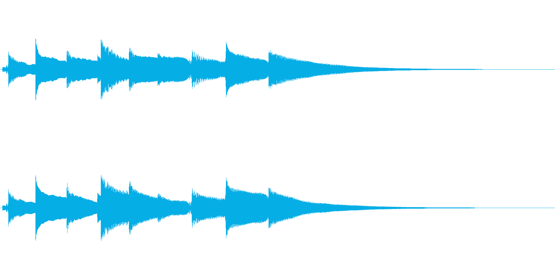 優しいエレピ音のジングルの再生済みの波形