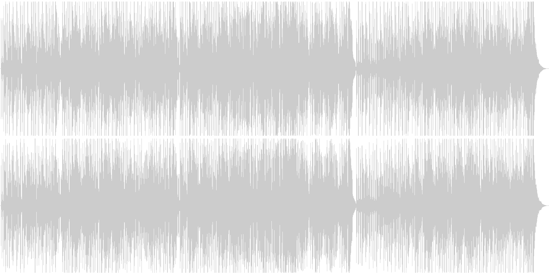 ほのぼのとしたレゲエ風BGMの未再生の波形