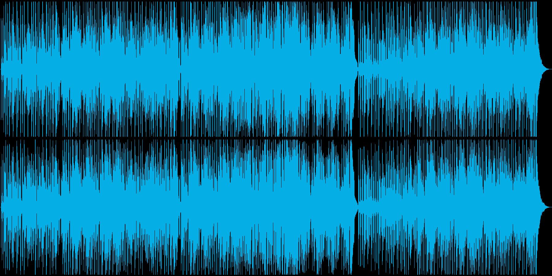 ほのぼのとしたレゲエ風BGMの再生済みの波形