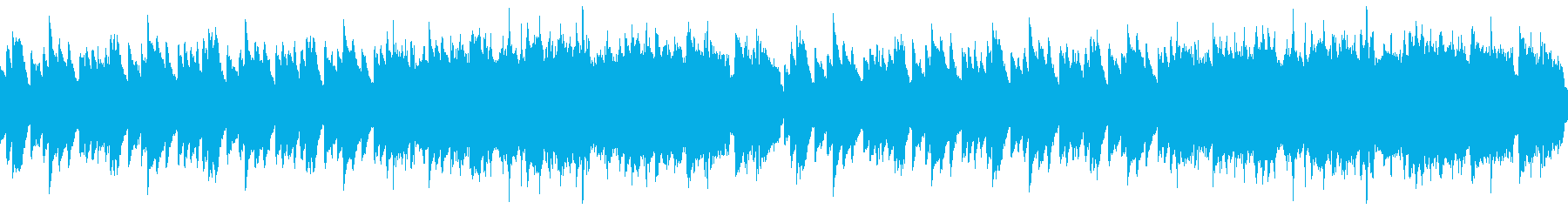 前向きになるピアノと弦とオーボエのループの再生済みの波形