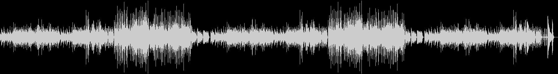 料理動画にぴったり!レトロ風ピアノBGMの未再生の波形