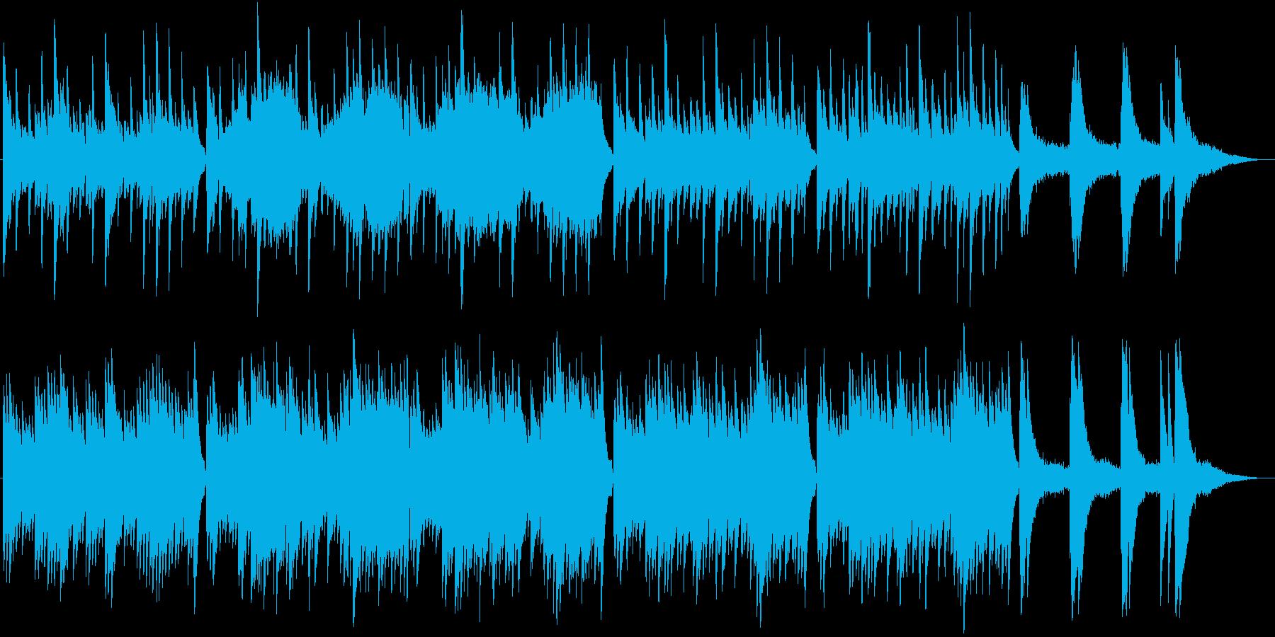 ピアノメインの切ない雰囲気のBGMの再生済みの波形
