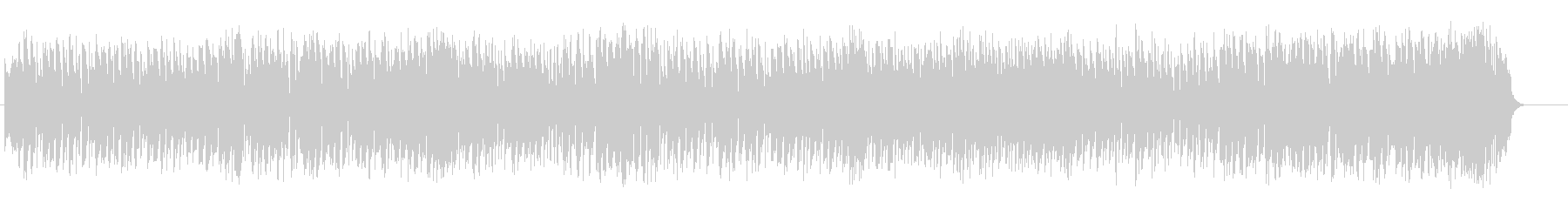 華やかさを押さえたテーマパーク音楽の未再生の波形