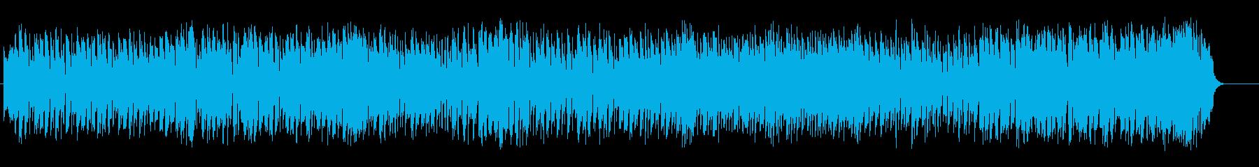 華やかさを押さえたテーマパーク音楽の再生済みの波形