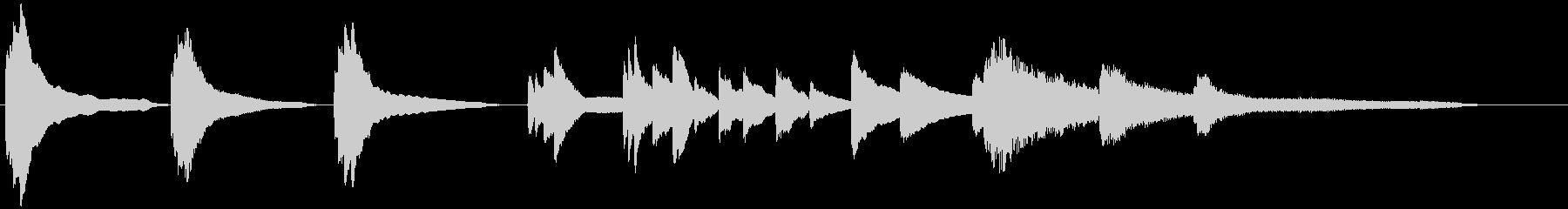 しっとりした切ないピアノジングルの未再生の波形