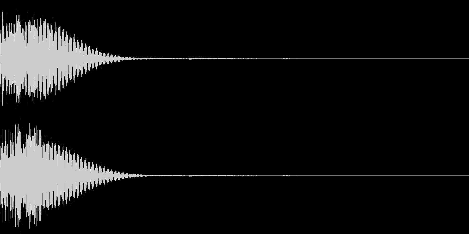 クリック音、キラン、キュイン、ピコン02の未再生の波形