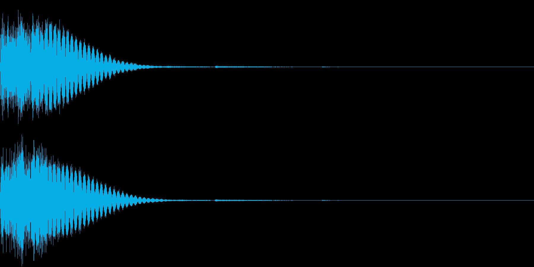 クリック音、キラン、キュイン、ピコン02の再生済みの波形
