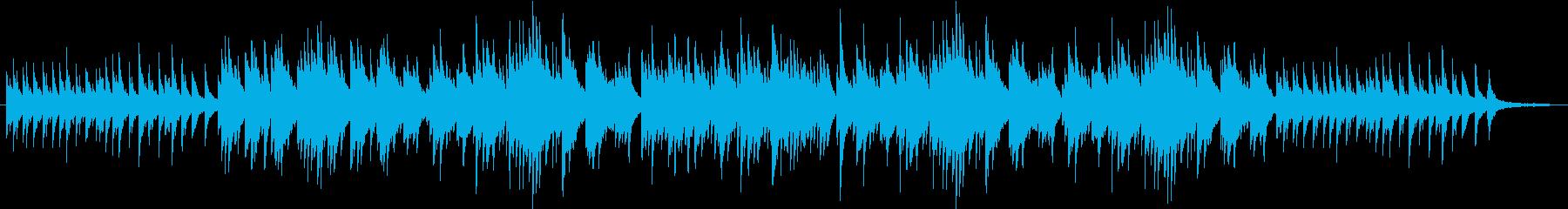 哀しみの回想シーン風ピアノソロ曲の再生済みの波形