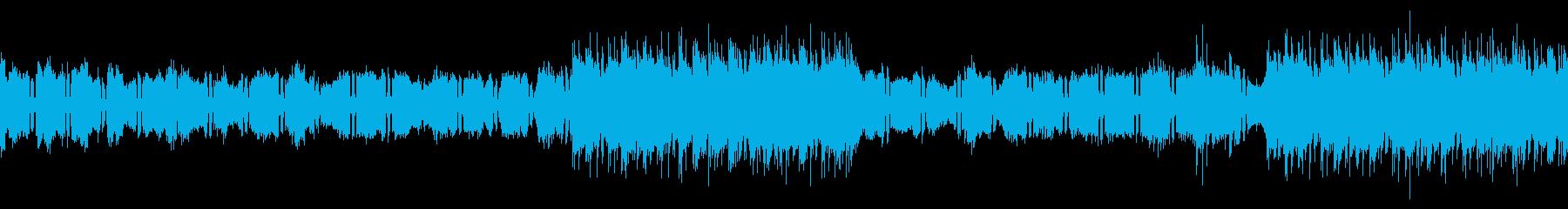 リズムなし、ループバージョンの再生済みの波形