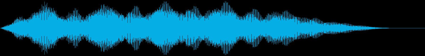 【ダーク】闇空間の映像の再生済みの波形