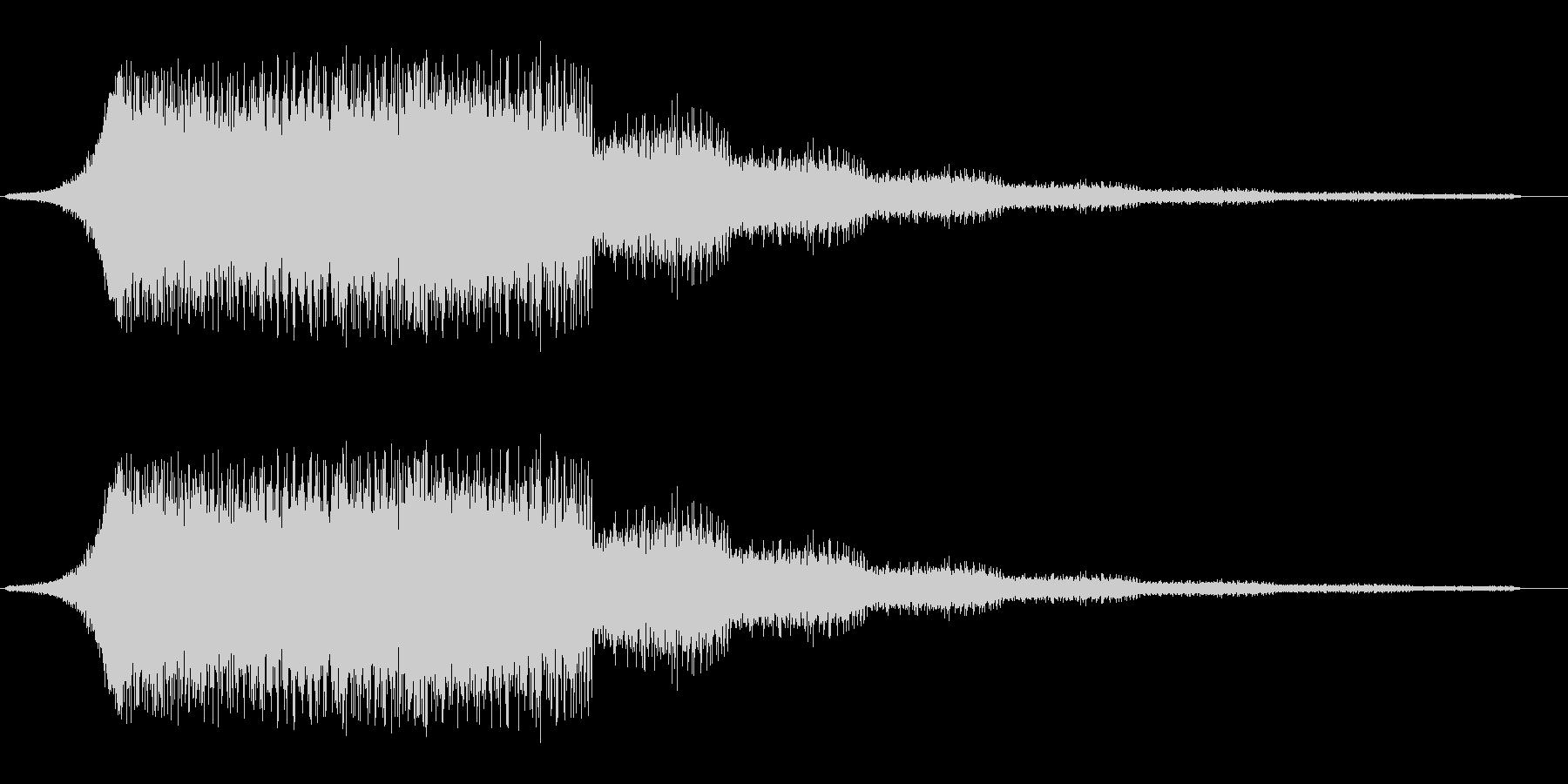 流れるようなシャープな効果音の未再生の波形