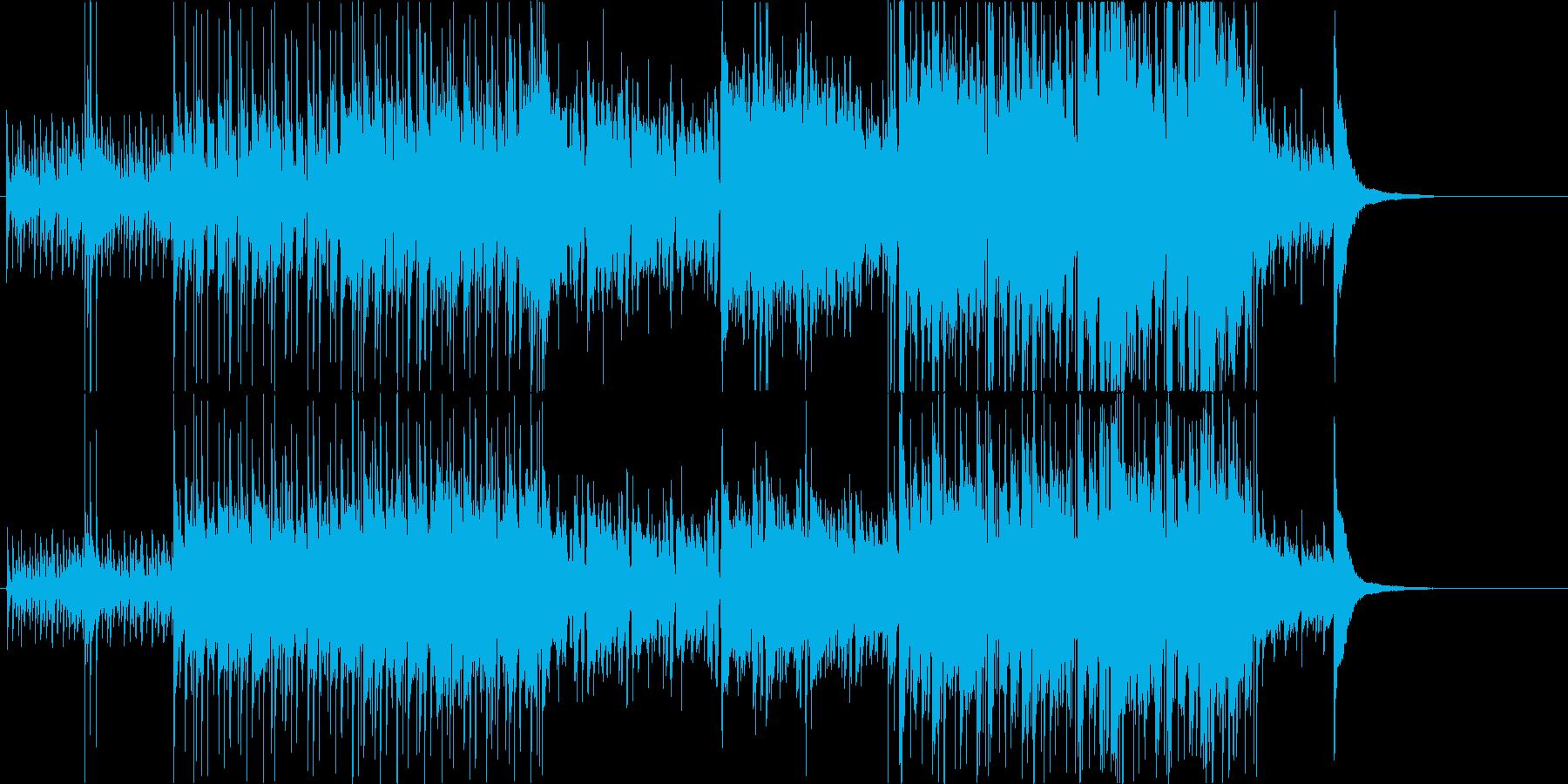 バンジョーを使用した軽快コミカルなBGMの再生済みの波形