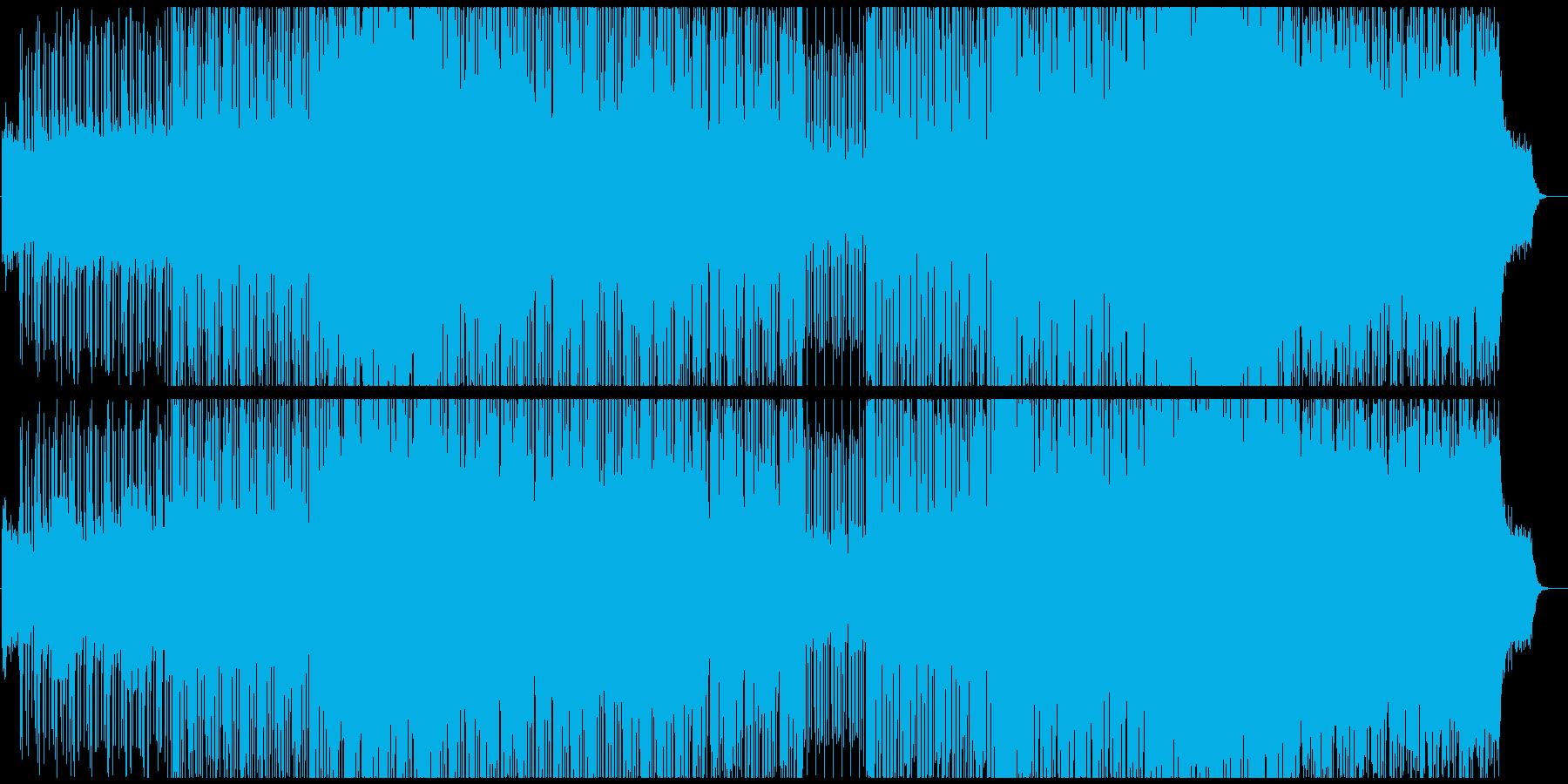 80s感溢れるヴェイパーウェイヴの再生済みの波形