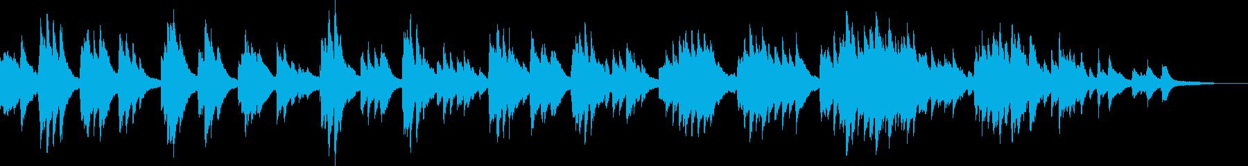優しくて落ち着く、幻想的なピアノバラードの再生済みの波形