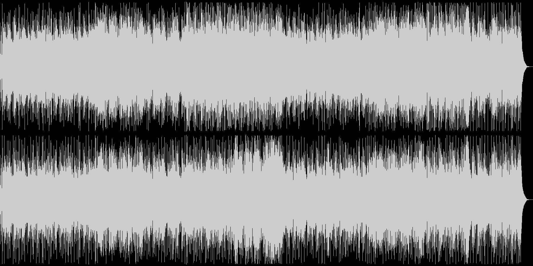 爽やかなアコギインストBGMの未再生の波形