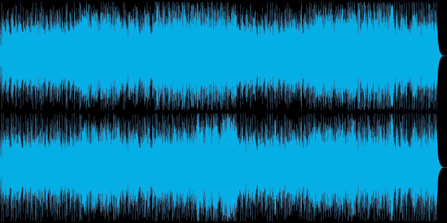爽やかなアコギインストBGMの再生済みの波形