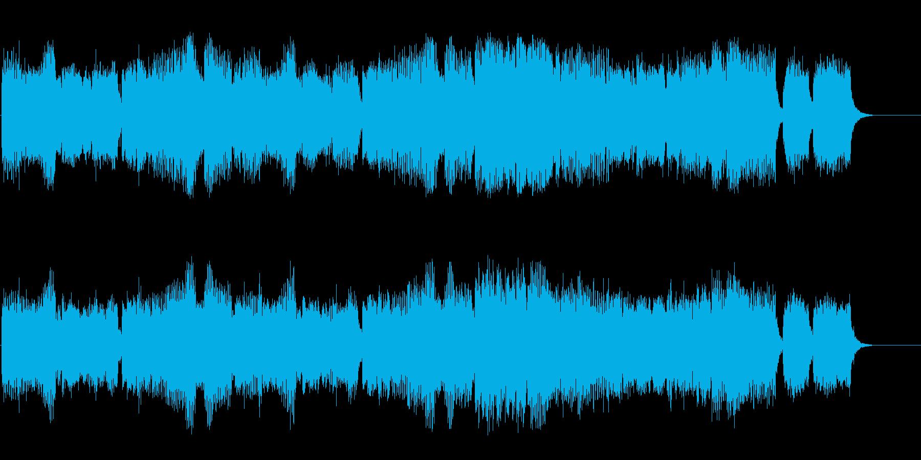 聖夜の教会の神聖なセミクラ風バラードの再生済みの波形