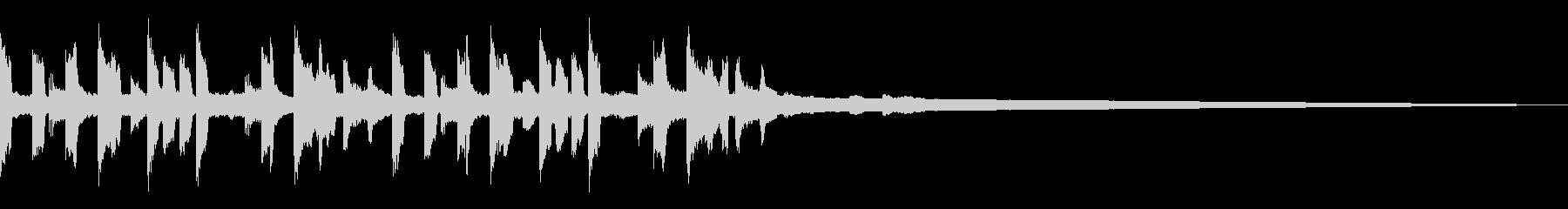 キャッチーなトラップジングル2の未再生の波形