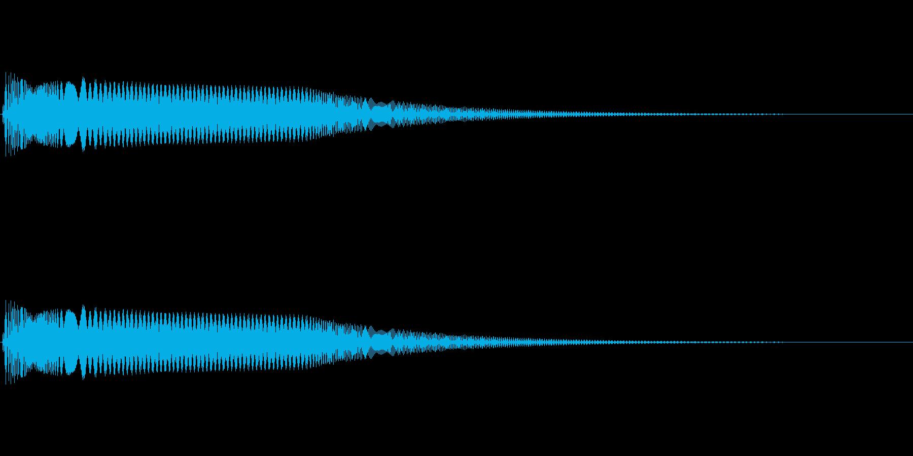 ボタンを押すようなシンセ音の再生済みの波形