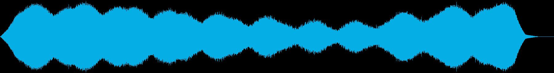 【アンビエント】ドローン_16 実験音の再生済みの波形