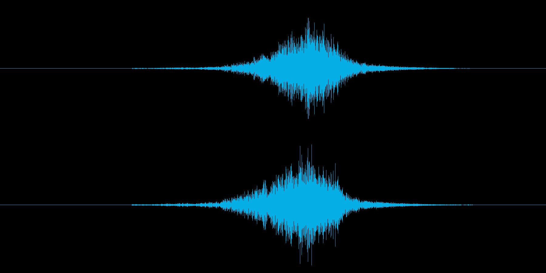 剣がこすれる音4の再生済みの波形