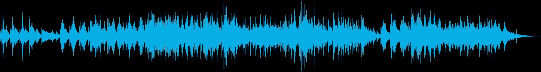 ピアノ、ギター、ストリングスのバラードの再生済みの波形