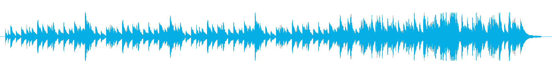 優しく柔らかいピアノBGMの再生済みの波形