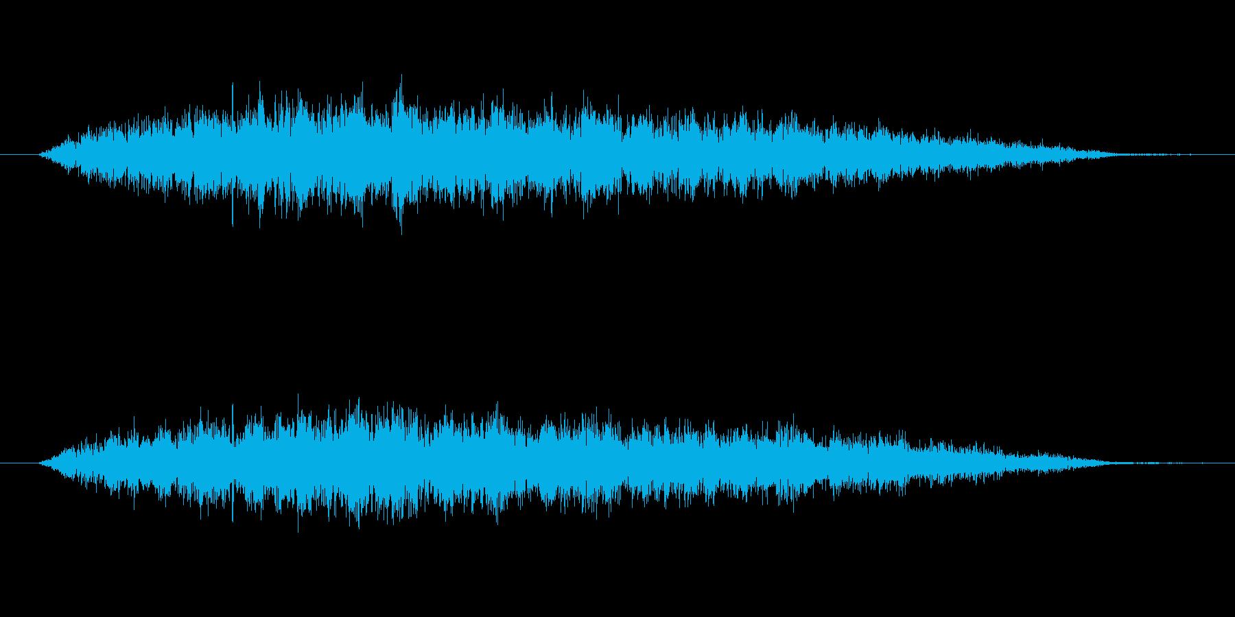 宇宙船が通りすぎる音の再生済みの波形
