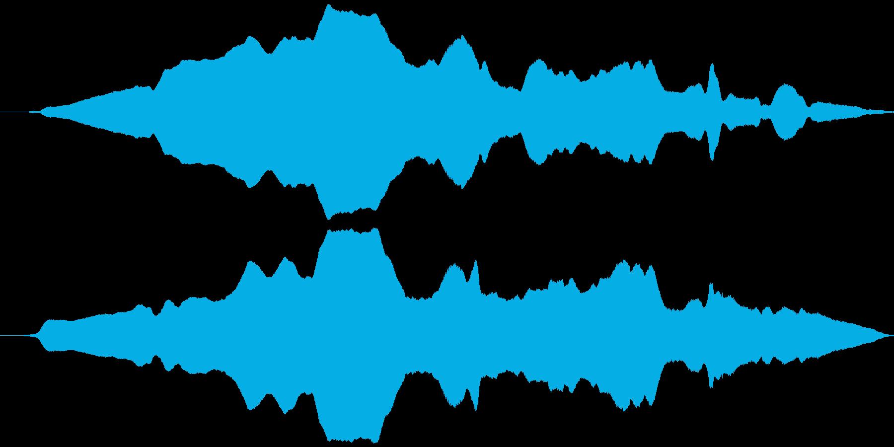 可愛く動く風(オノマトペ)ヒョウィッの再生済みの波形