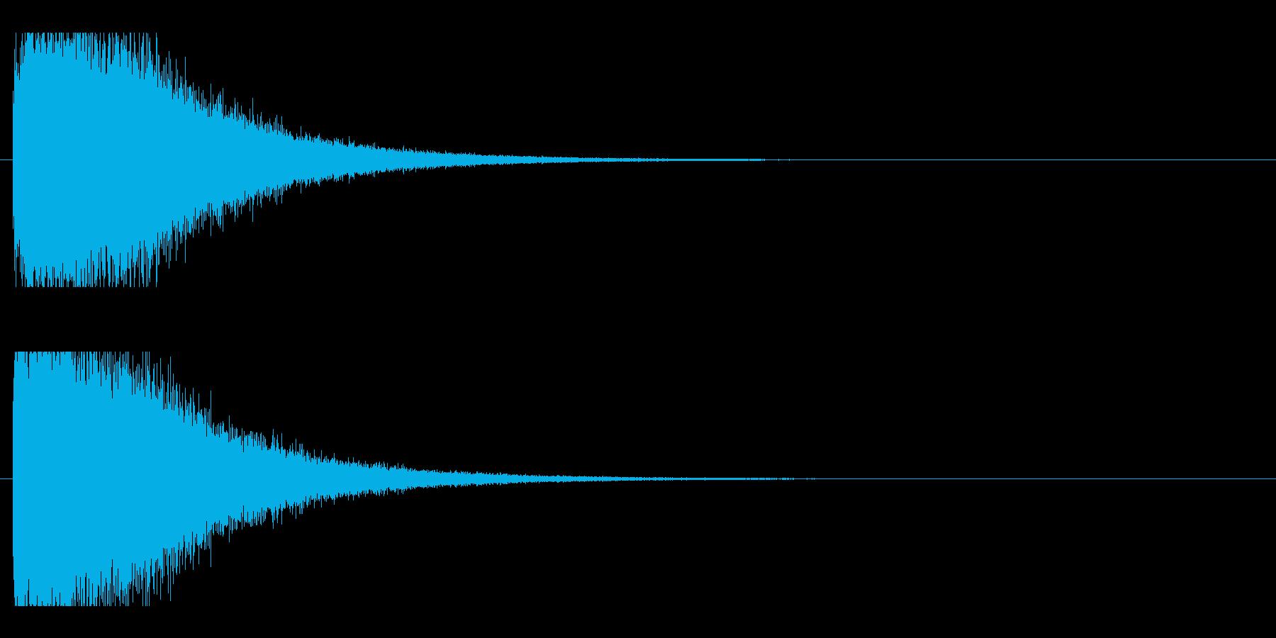 レーザー音-78-2の再生済みの波形