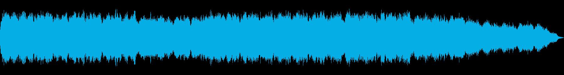 幻想的な笛の瞑想ヒーリング音楽の再生済みの波形