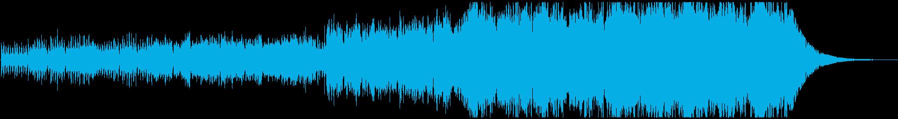短いながらも盛り上がるフルオーケストラの再生済みの波形
