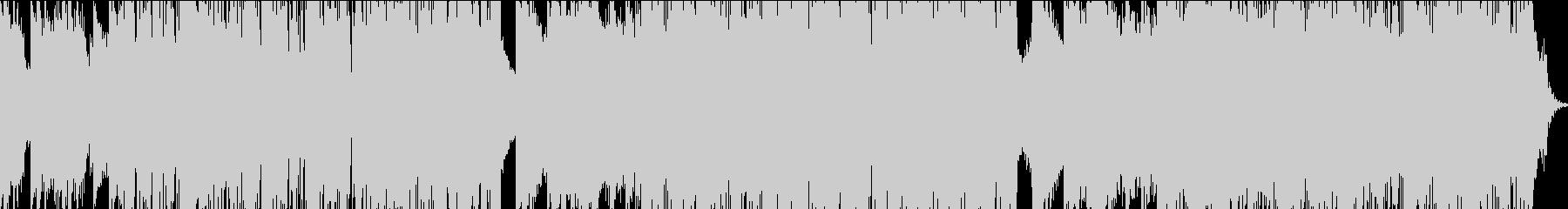懐かしい感じの軽快なテクノポップの未再生の波形