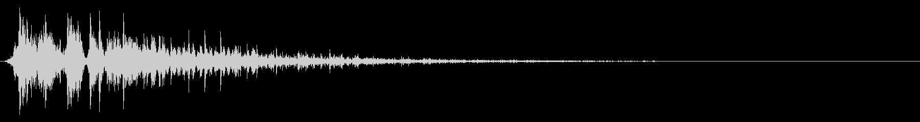 ソフトデジタルスプレーヒットの未再生の波形