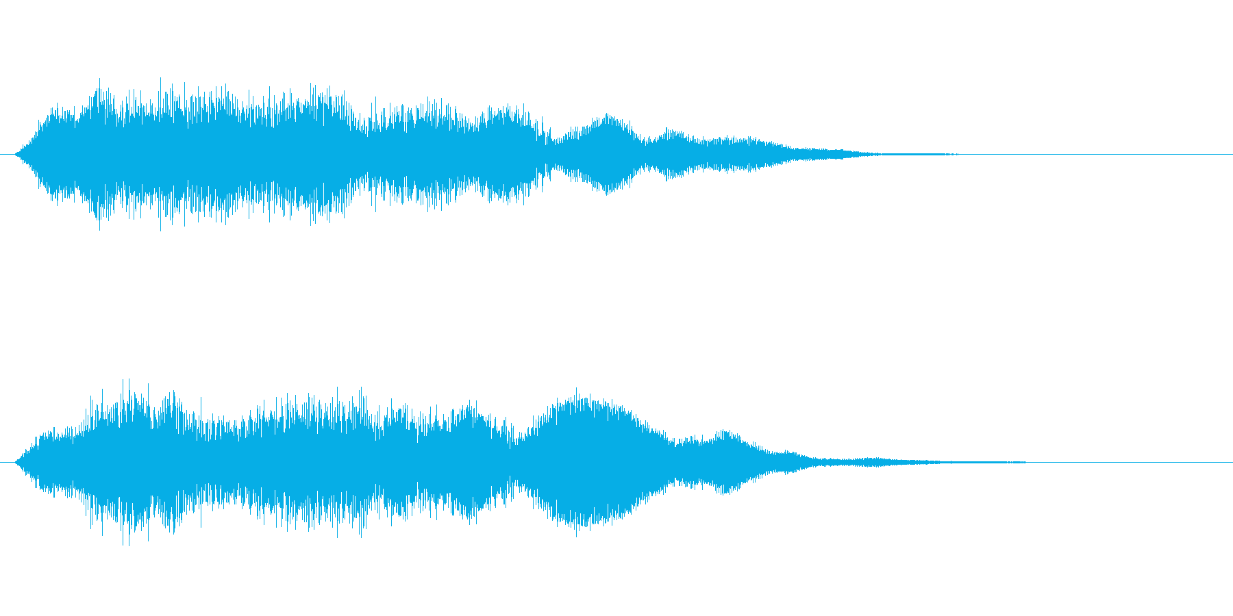 奇妙な鐘の再生済みの波形