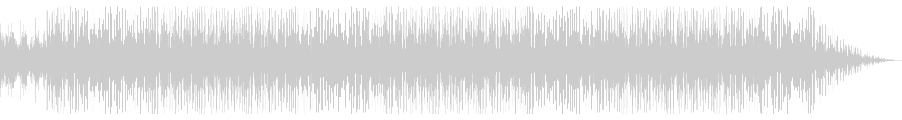 ピアノ主体でドリーミーな落ち着いた曲の未再生の波形