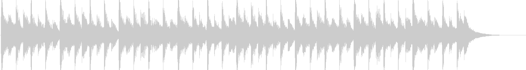 80年代のポップロック調のジングルの未再生の波形
