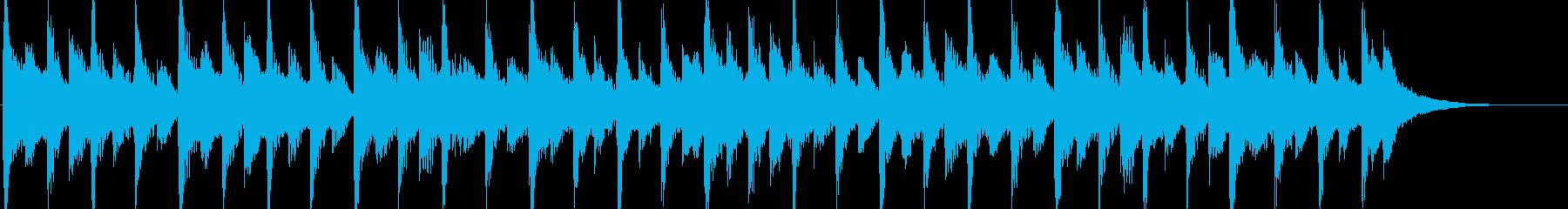 80年代のポップロック調のジングルの再生済みの波形