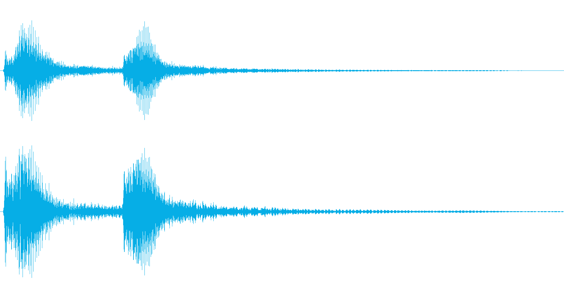 チャンチャン・オチの音(低)の再生済みの波形