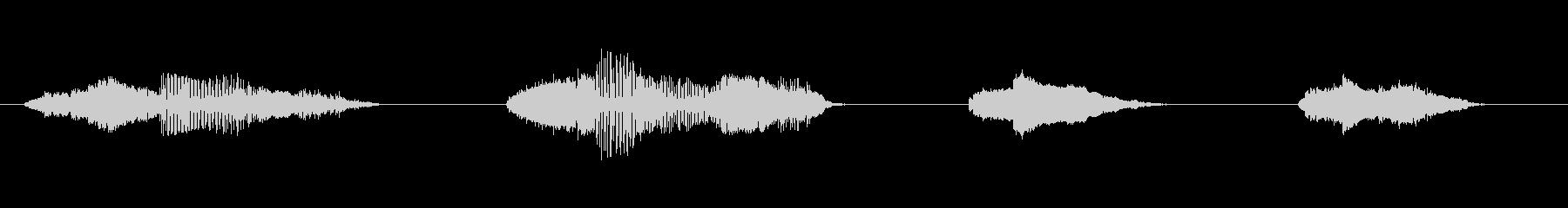 ドアウッドクリークx4の未再生の波形