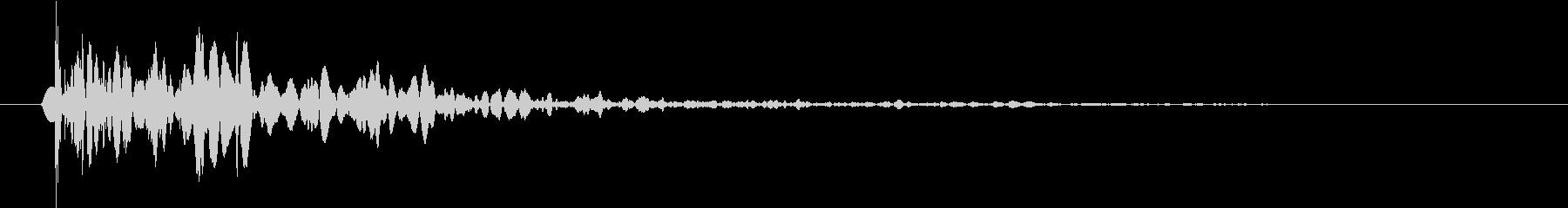 【生録音】野球 キャッチボールの音 1の未再生の波形