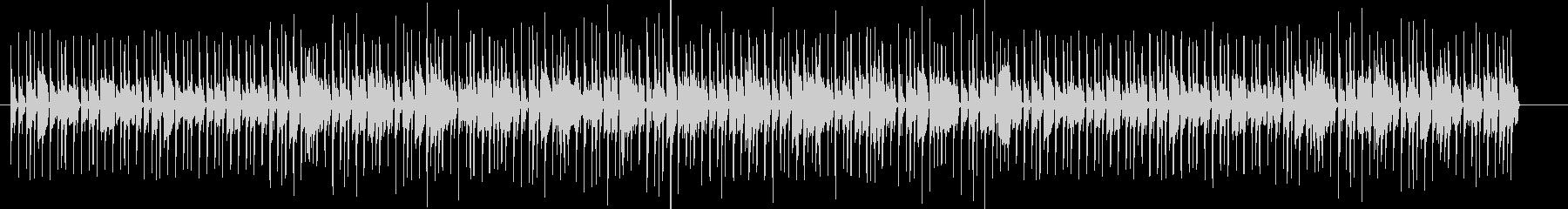 響きが強くテンポの速いメロディーの未再生の波形