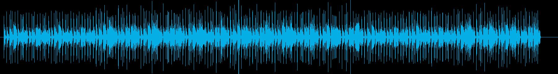 響きが強くテンポの速いメロディーの再生済みの波形