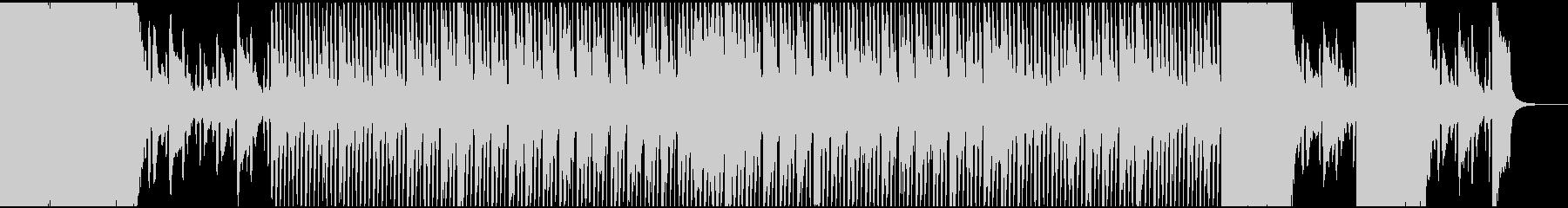 迫力(不安,安堵感)あるテクノサウンドの未再生の波形