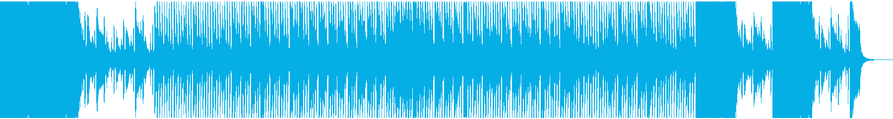 迫力(不安,安堵感)あるテクノサウンドの再生済みの波形
