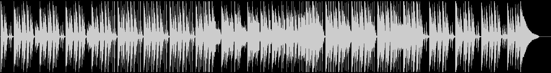 ピアノメインの和やか日常系BGMの未再生の波形