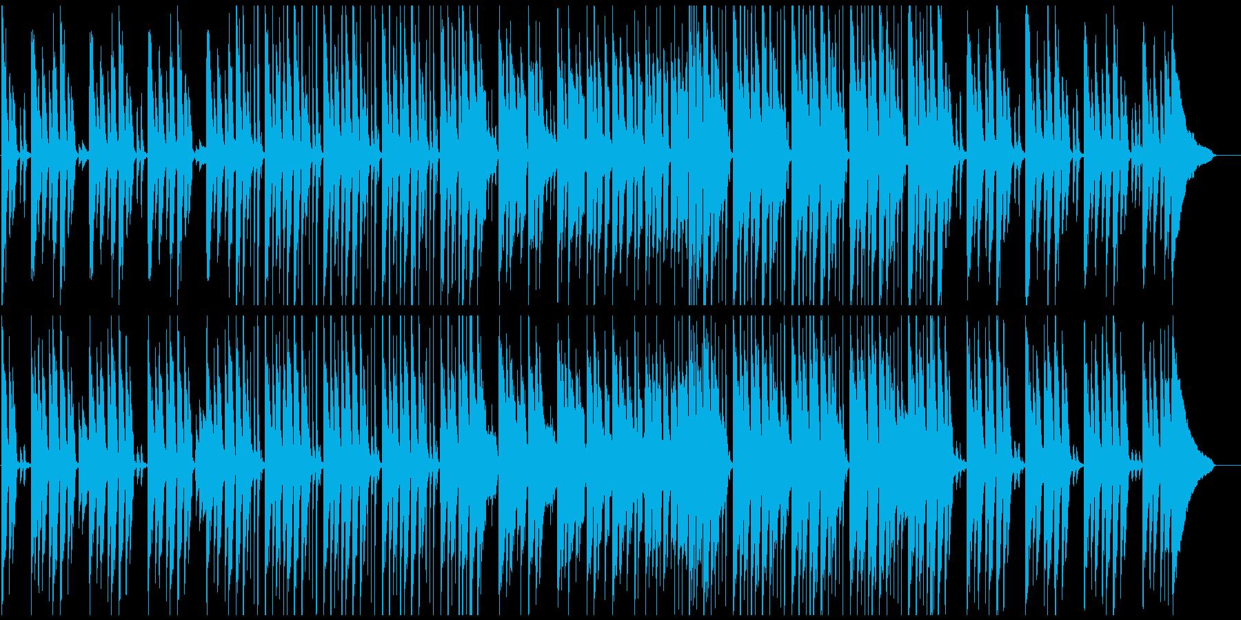 ピアノメインの和やか日常系BGMの再生済みの波形